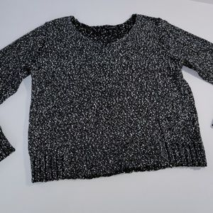Eileen Fisher Crop Sweater 3/4 Sleeve Size Small